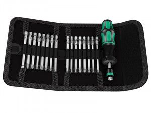 Wera Kraftform Kompakt 60 Torque Screwdriver Set of 17 1.2-3.0Nm