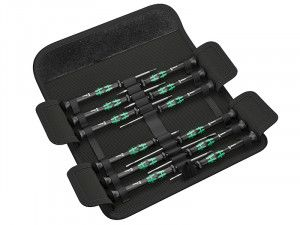 Wera Kraftform Micro Screwdriver Set of 12 SL/PH/HEX/TX