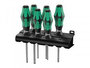 Wera Kraftform Plus Lasertip 335/350/355/6 Screwdriver Set of 6 SL/PH/PZ