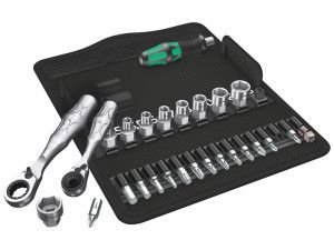 Wera Kraftform Kompakt Zyklop Mini 2 Shallow Socket Set of 27 Metric 1/4in Drive