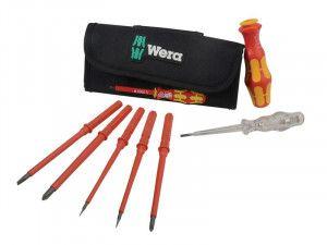 Wera Wera Kraftform Kompakt VDE Interchangeable Screwdriver Set, 7 Piece