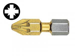 Witte Pozidriv 1pt Titanium Coated Bits (Strip of 10) 25mm