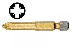 Witte, Pozidriv Titanium Screwdriver Bits - 50 mm