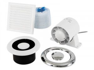 Xpelair Airline 100T Shower Fan Kit - Run-On Timer 100mm