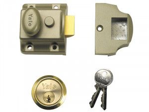 Yale Locks 706 Traditional Nightlatch 40mm Backset ENB Finish Box