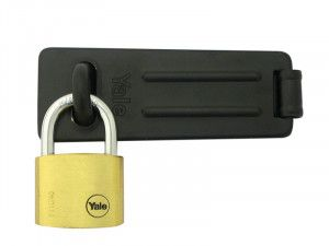 Yale Locks Hasp & Brass Padlock Set 40mm