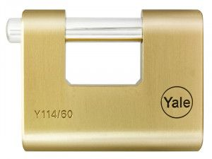 Yale Locks Y114 60mm Brass Shutter Padlock