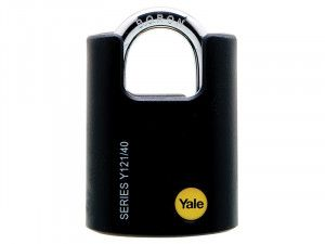 Yale Locks, Y121 Brass Padlock Closed Shackle
