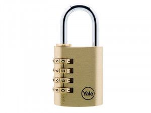 Yale Locks, Y150 Brass Combination Padlock