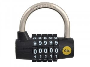 Yale Locks Y160 48mm Steel 5-Dial Combination Padlock