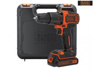 Black & Decker BCD700S1K 2 Gear Hammer Drill 18V 1 x 1.5Ah Li-ion