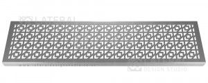 Aquascape - Drainage Channel Cover - Stainless Steel Grate - Chevron