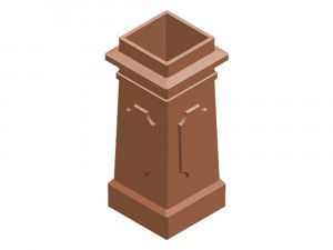 Chimney Pot - Square Panelled (KYQP)