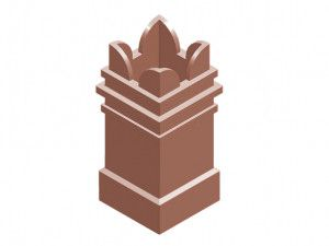 Chimney Pot - Square Spiked (KYQ23)
