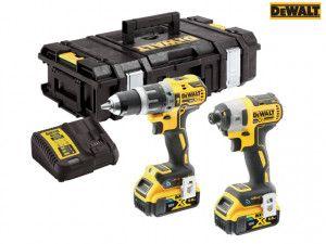 DEWALT DCK2500P2B XR Brushless Tool Connect Twin Pack 18V 2 x 5.0Ah Li-ion