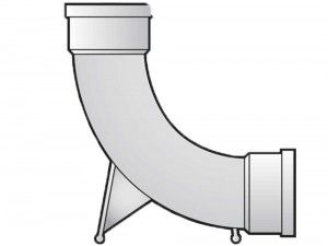 FloPlast - Double Socket Rest Bend - 87.5° - D571