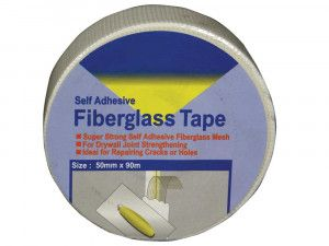 Plasterers Scrim - Self Adhesive Fibreglass Tape - 50mm x 90m