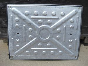 Manhole Covers - Pressed Steel Galvanised - Double Seal