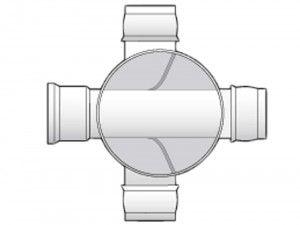 FloPlast - Mini Access Chamber 300mm Diameter  - 3 x 110mm Flexible Inlets - D802