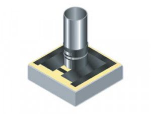 Groundwork Materials - Radon Gas Barrier - Top Hat for Radon Barrier 110mm