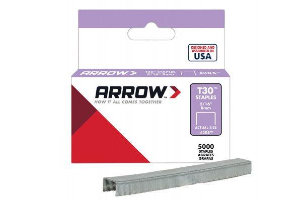 Arrow T30 Staples 305IP 8mm (5/16in) Box 5000