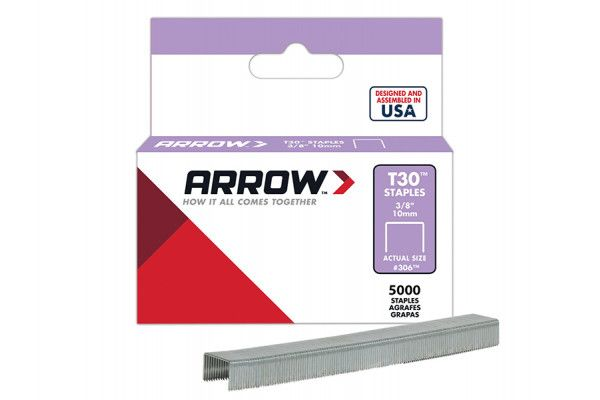 Arrow T30 Staples 306IP 10mm (3/8in) Box 5000