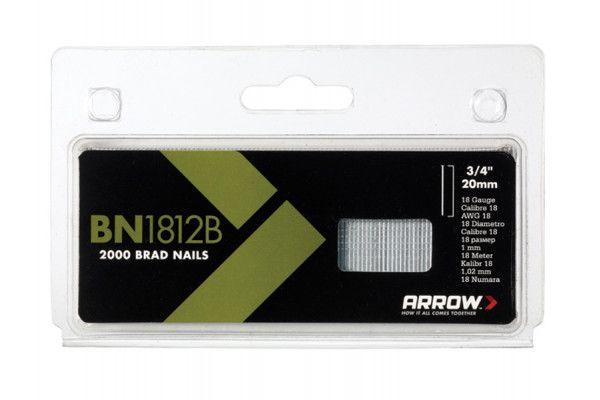 Arrow BN1812B Brad Nails 20mm Brown Head Pack 2000