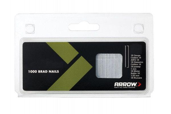 Arrow BN1824 Brad Nails 38mm 18g Pack 1000