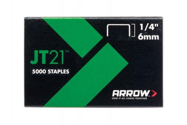 Arrow JT21 T27 Staples 6mm (1/4in) Box 5000