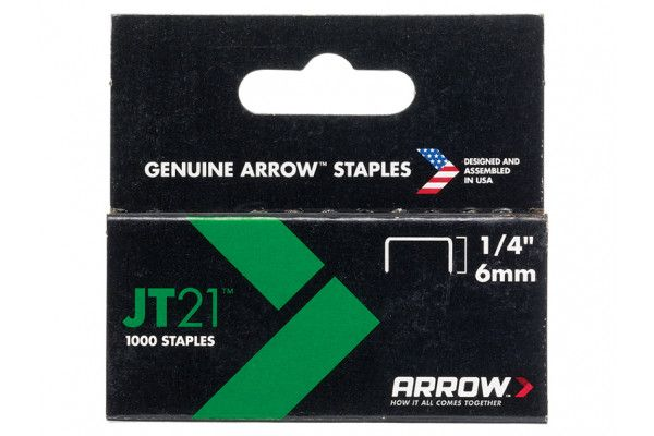Arrow JT21™ T27 Staples 6mm (1/4in) Box 1000