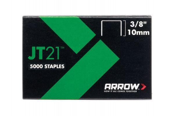 Arrow JT21 T27 Staples 10mm (3/8in) Box 5000