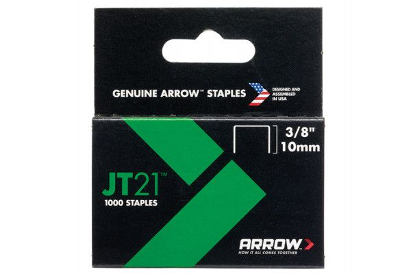 Arrow JT21 T27 Staples 10mm (3/8in) Box 1000