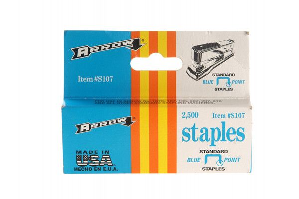 Arrow S107 Staples Box 2500