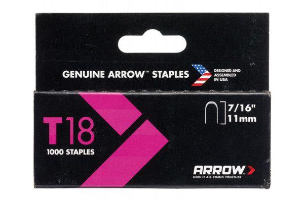Arrow T18 Staples 11mm (7/16in) Box 1000