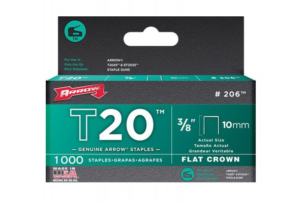 Arrow T20 Staples 10mm (3/8in) Box 1000