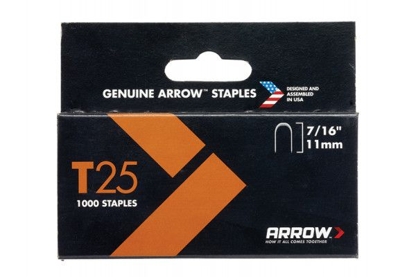 Arrow T25 Staples 11mm (7/16in) Box 5000