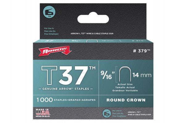 Arrow T37 Staples 14mm (9/16in) Box 1000