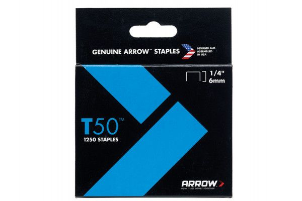 Arrow T50™ Staples 6mm (1/4in) Box 1250