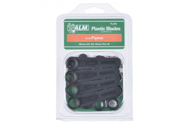 ALM Manufacturing FL240 Plastic Blades Large Hole to Suit Flymo