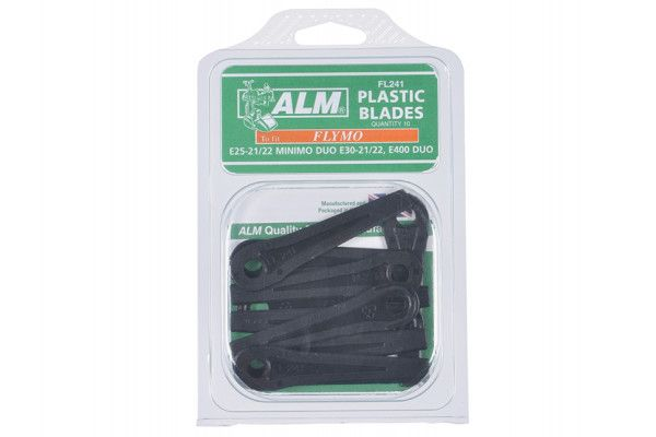 ALM Manufacturing FL241 Plastic Blades Small Hole to Suit Flymo