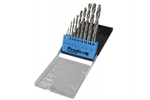 Black & Decker HSS Drill Bit Set of 10 1-10mm x 1.0mm