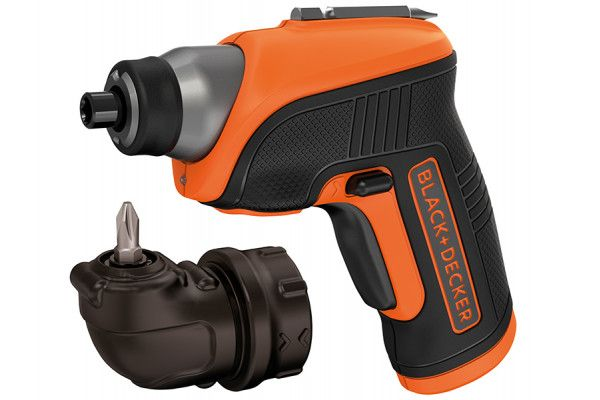 Black & Decker CS3652LC Cordless Screwdriver & Right Angle Attachment 3.6V Li-Ion
