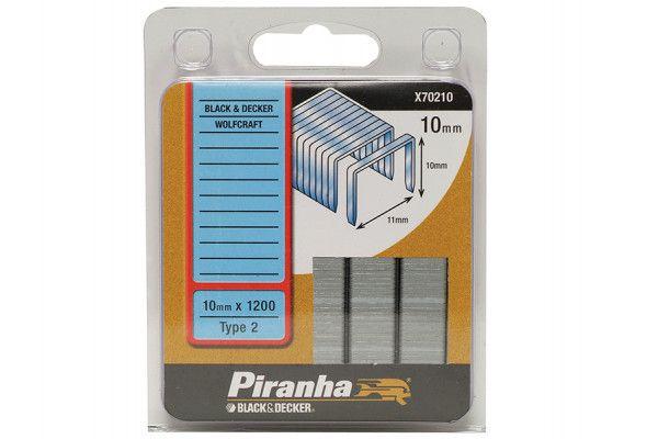 Black & Decker X70210 Flat Wire Staples 10mm Pack 1200
