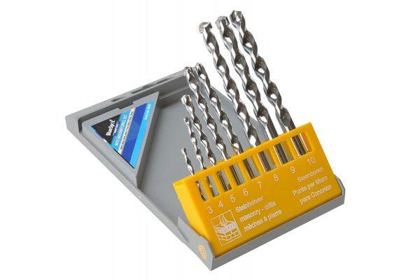 BlueSpot Tools Masonry Drill Set of 8 3.0-10.0mm
