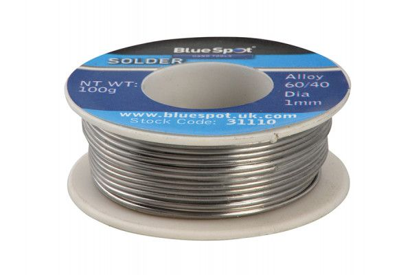 BlueSpot Tools Flux Covered Solder 100g 60/40