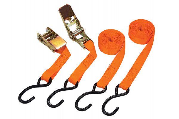 BlueSpot Tools Ratchet Tie-Down Set 25mm x 4.5m