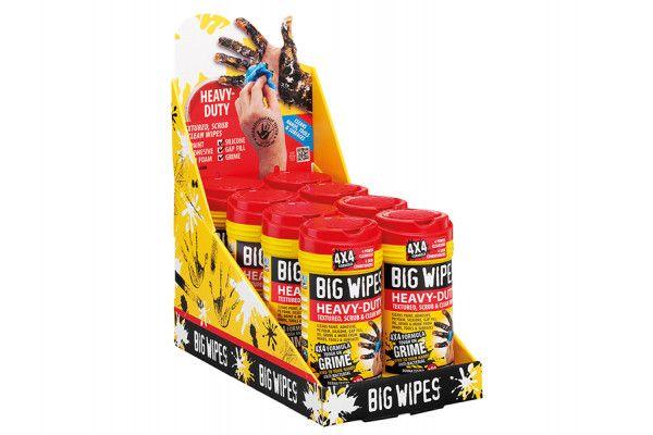 Big Wipes 4x4 Heavy-Duty Cleaning Wipes CDU 16 x Tub of 80