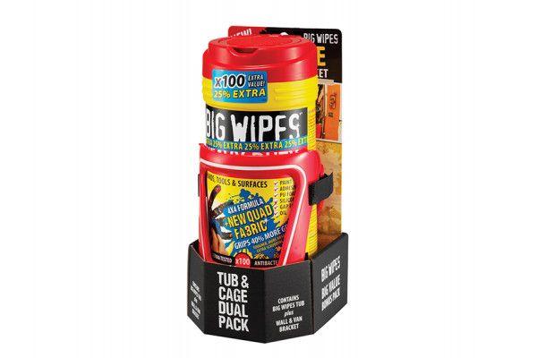 Big Wipes Red Top Heavy-Duty Wipes Tub of 80+25% Inc Bracket