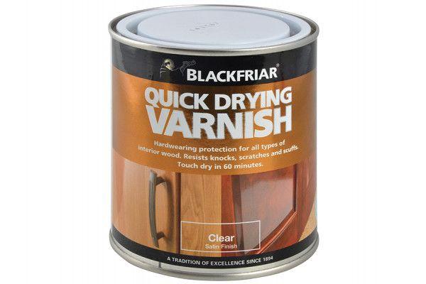 Blackfriar Quick Drying Duratough Interior Varnish Clear Satin 250ml