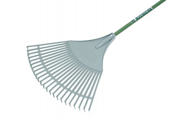 Bulldog Evergreen Plastic Leaf Rake Aluminium Shaft